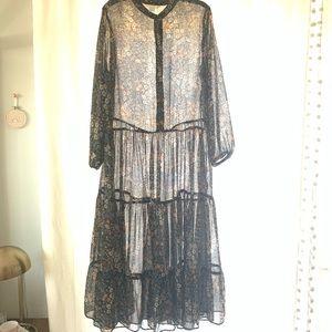 Boho Prairie Floral Dress
